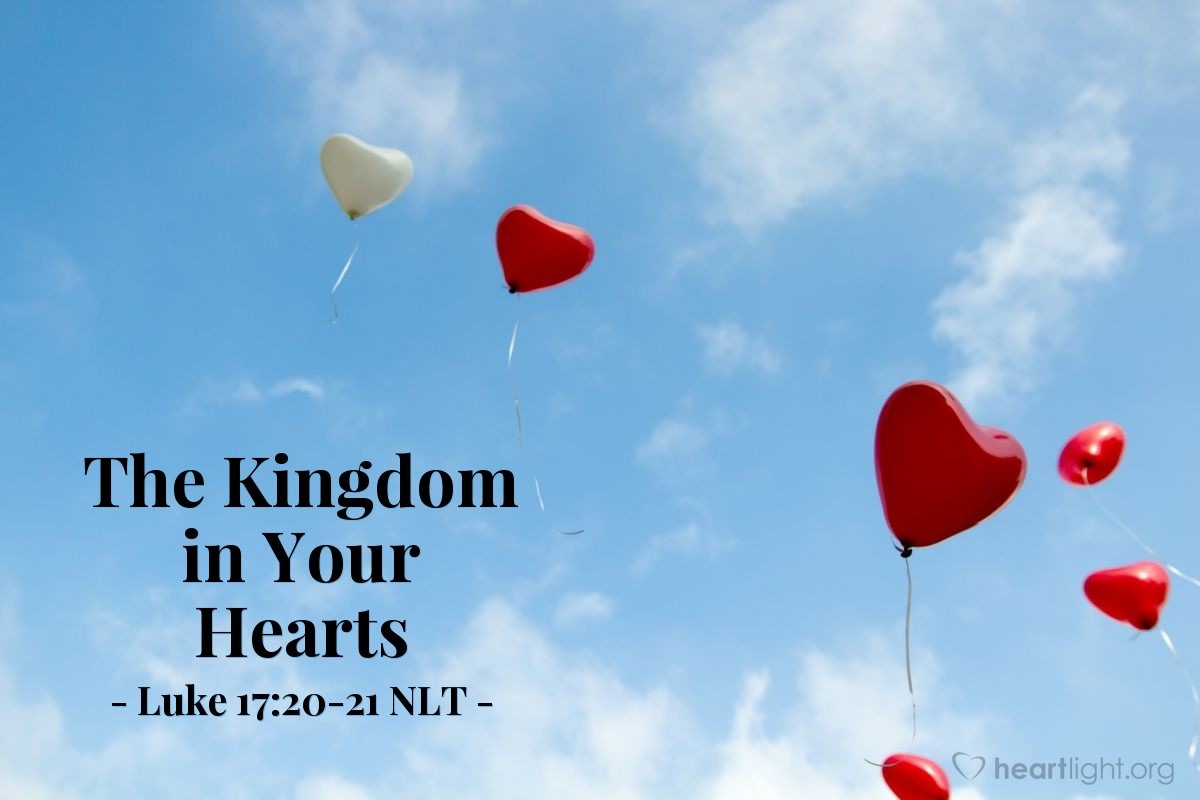 """Illustration of Luke 17:20-21 — """"When will the kingdom of God come?"""""""