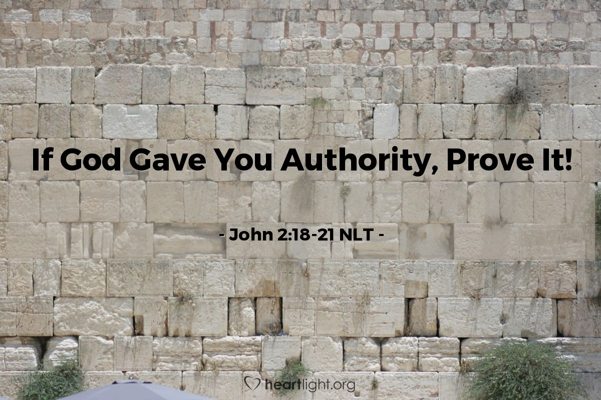 "Illustration of John 2:18-21 — ""People worked 46 years to build this temple! Do you really believe you can build it again in three days?"""