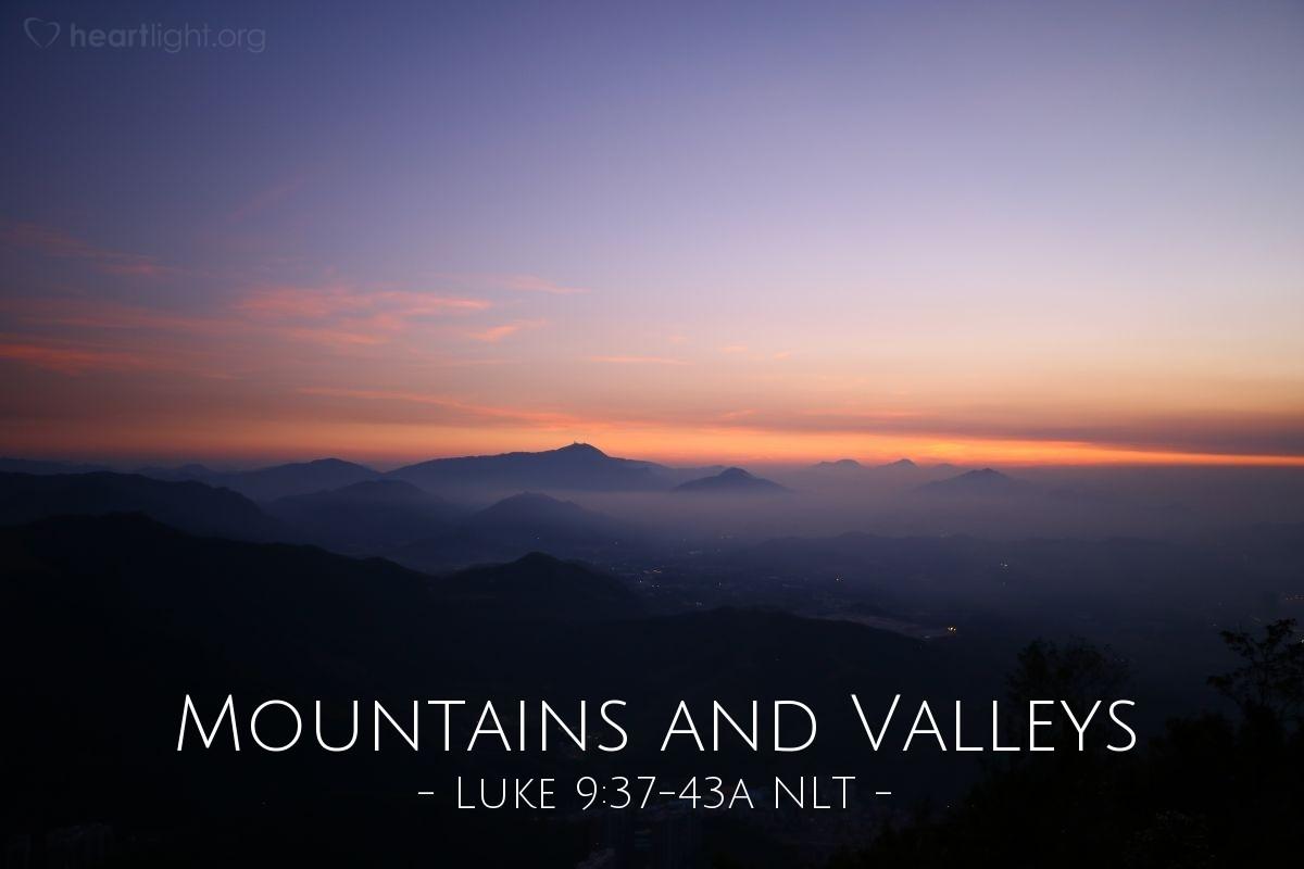 "Illustration of Luke 9:37-43 — ""Bring your son here."""
