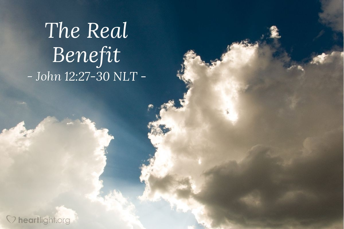 "Illustration of John 12:27-30 — ""An angel spoke to Jesus!"""