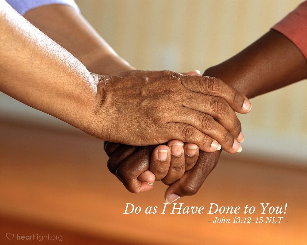 """Illustration of John 13:12-15 — """"Do you understand what I did for you?"""""""