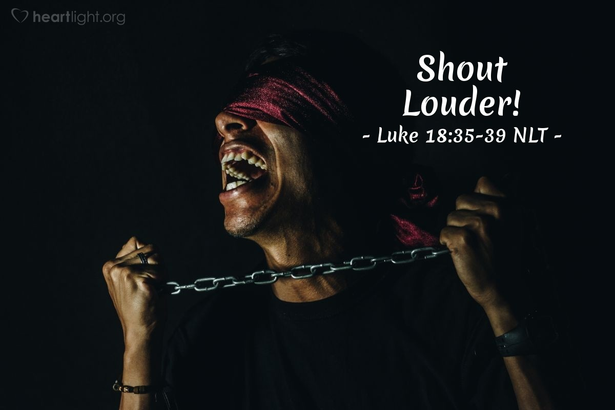 "Illustration of Luke 18:35-39 — ""Son of David, please help me!"""