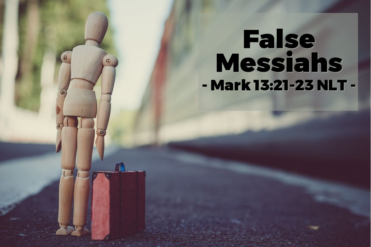 Illustration of Mark 13:21-23 —  False Christs and false prophets will come and do great things and miracles.