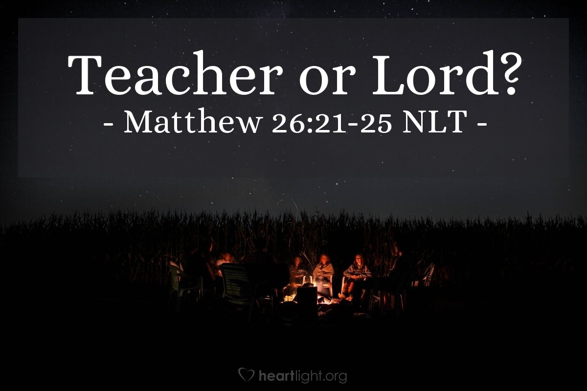 "Illustration of Matthew 26:22-25 — ""Yes, it is you."""