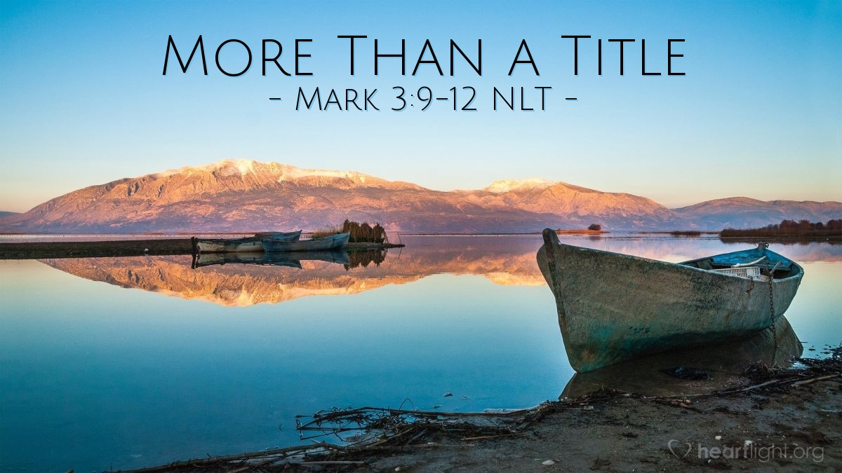 """Illustration of Mark 3:9-12 — """"You are the Son of God!"""""""