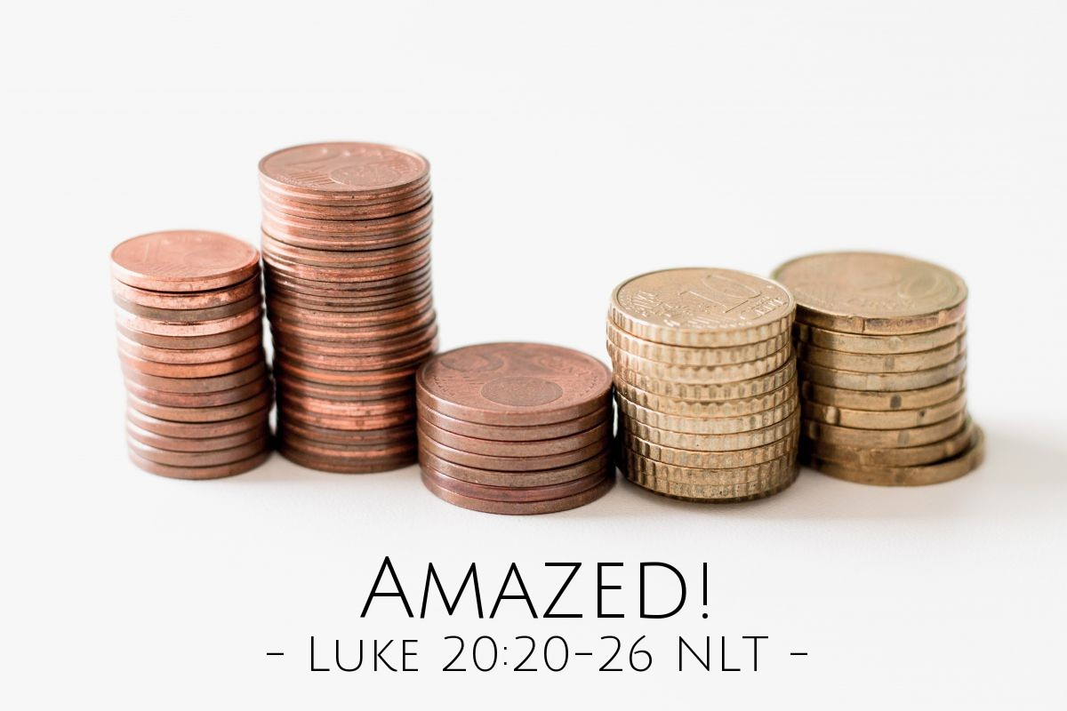 """Illustration of Luke 20:20-26 — """"Then give to Caesar the things that are Caesar's. And give to God the things that are God's."""""""