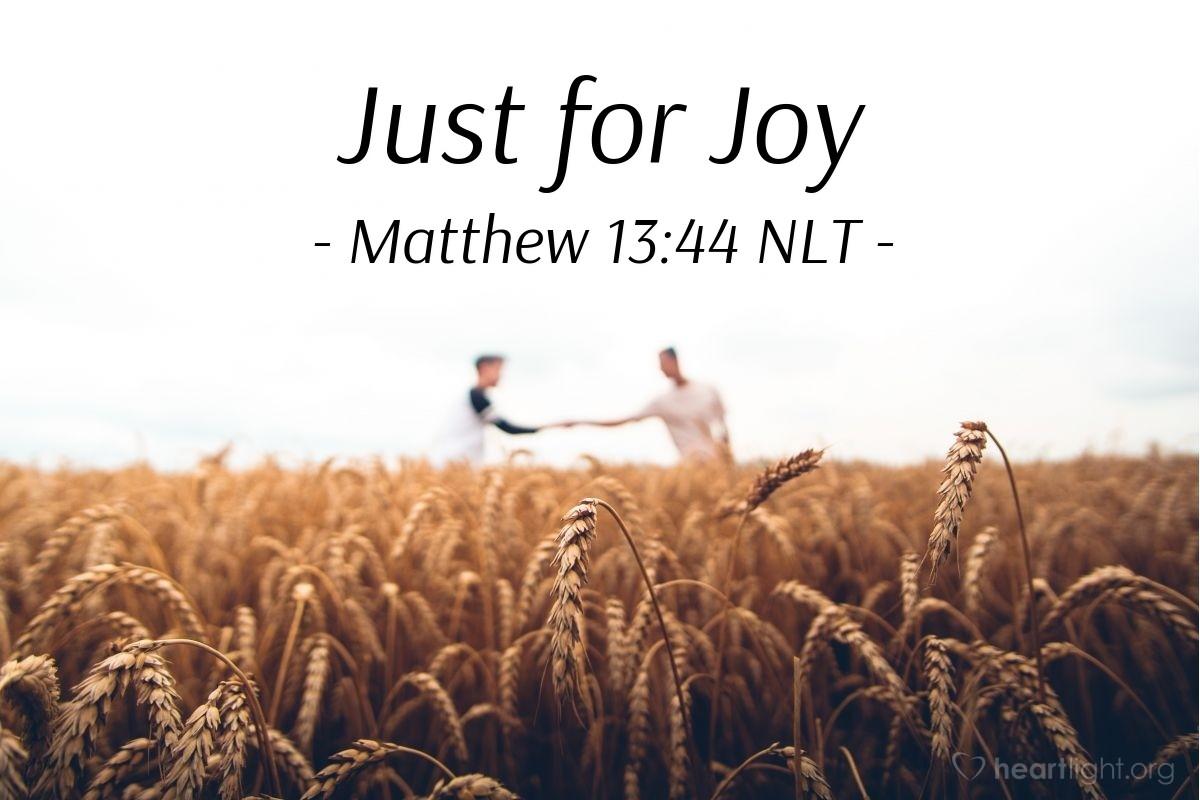 """Illustration of Matthew 13:44 — """"The kingdom of heaven is like a treasure hidden in a field."""""""