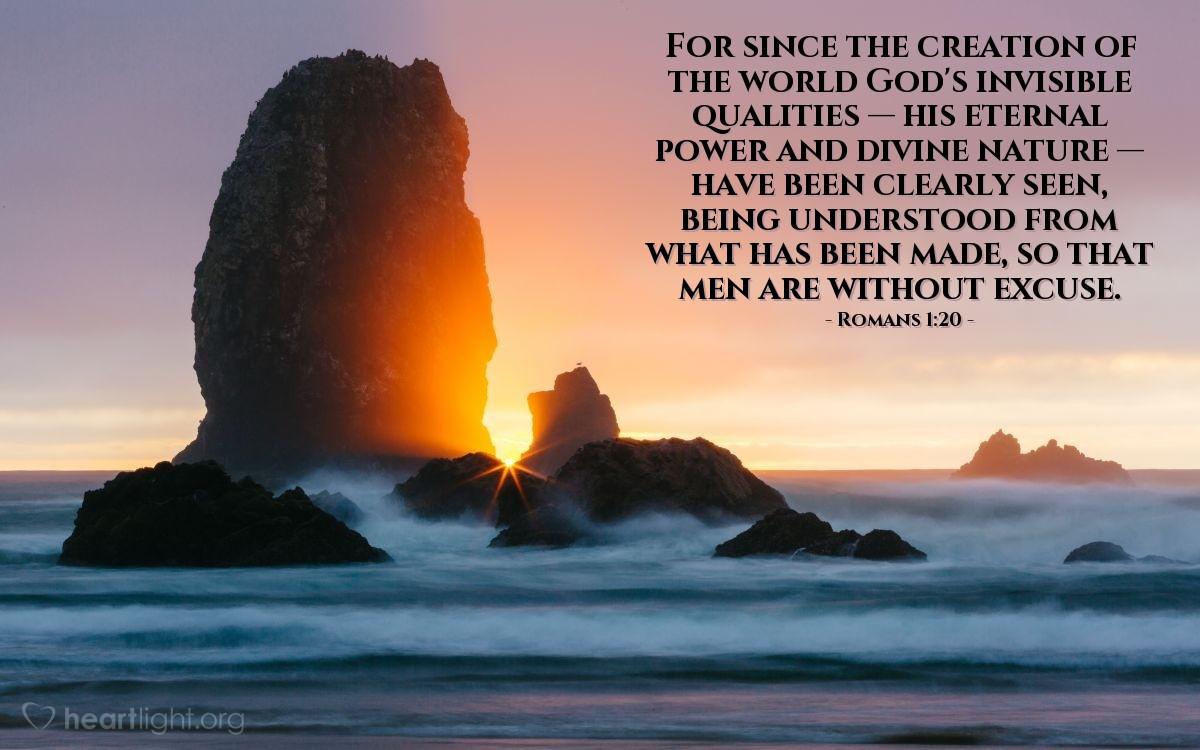 Inspirational illustration of Romans 1:20