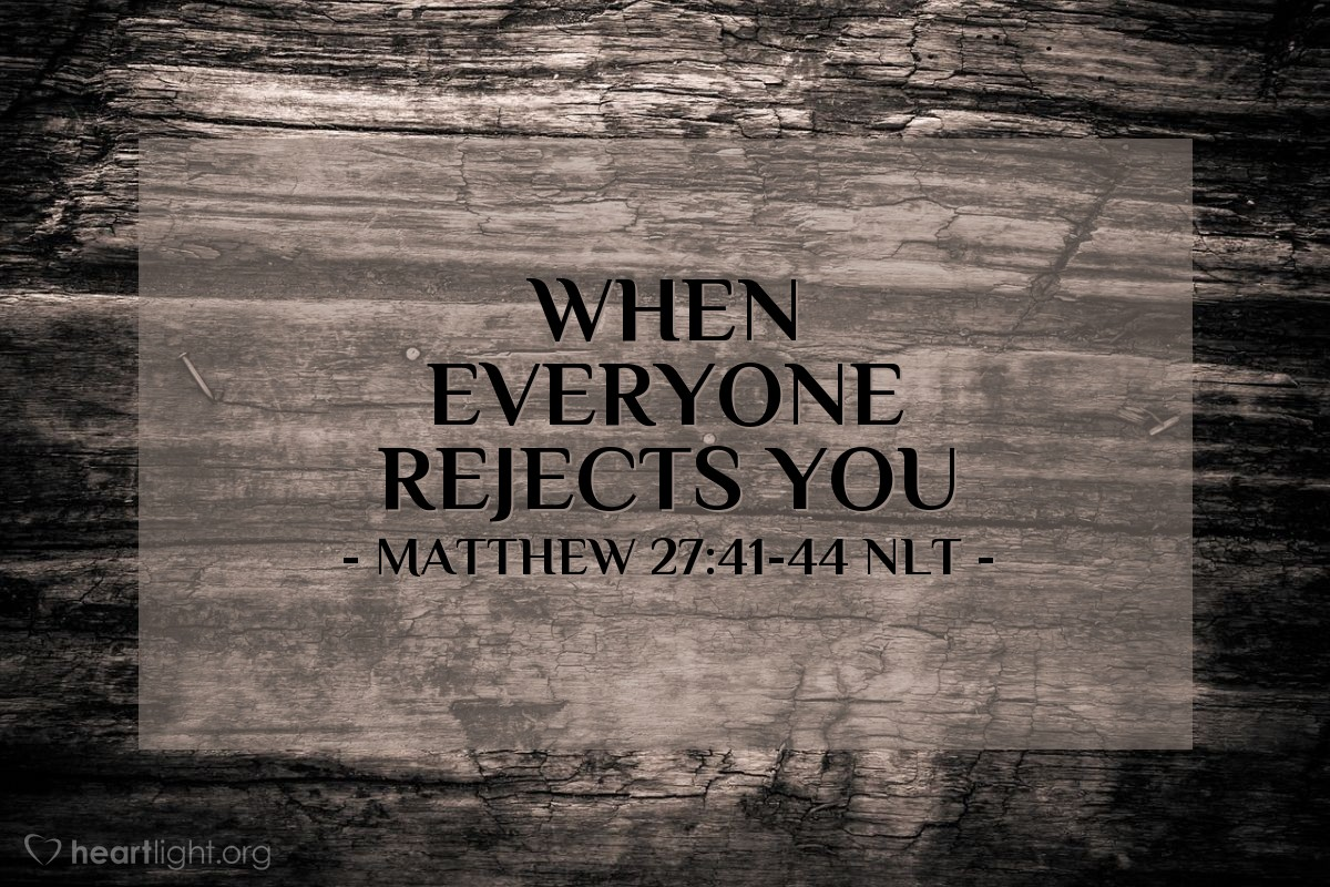 """Illustration of Matthew 27:41-44 — """"He saved other people."""""""