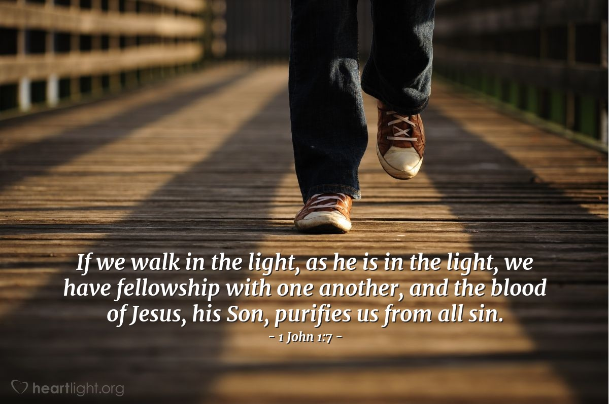 Inspirational illustration of 1 John 1:7