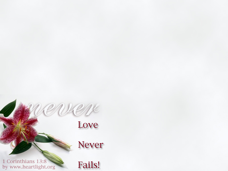 PowerPoint Background using 1 Corinthians 13:8