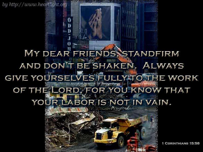 PowerPoint Background using 1 Corinthians 15:58