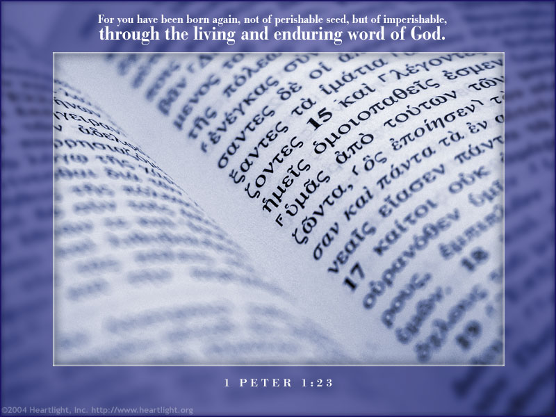 PowerPoint Background using 1 Peter 1:23