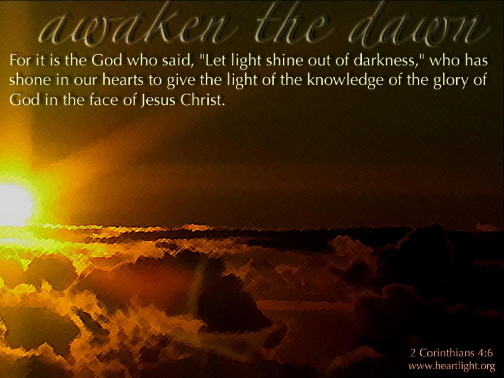 PowerPoint Background using 2 Corinthians 4:6 Awaken