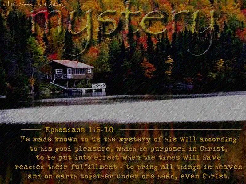 PowerPoint Background using Ephesians 1:9-10