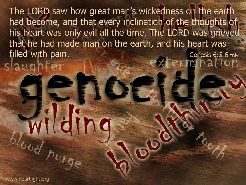PowerPoint Background using Genesis 6:6