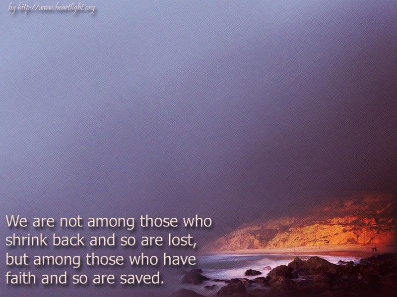 PowerPoint Background using Hebrews 10:39