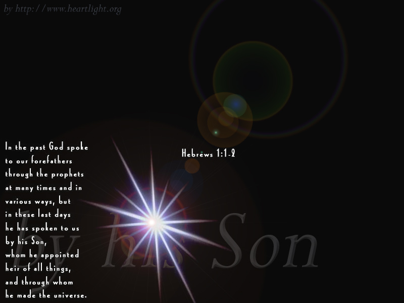 Quot By His Son Quot Powerpoint Background Of Hebrews 1 1 2