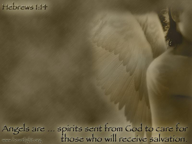 PowerPoint Background using Hebrews 1:14 Text