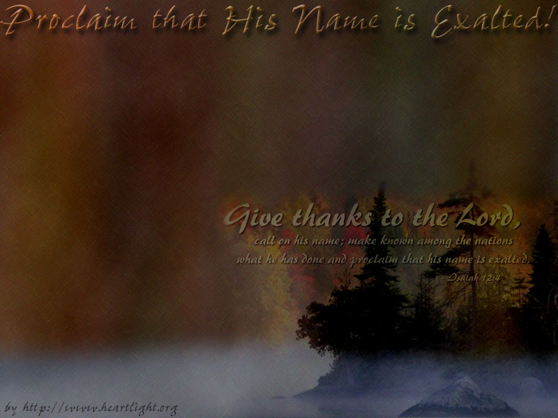 PowerPoint Background using Isaiah 12:4