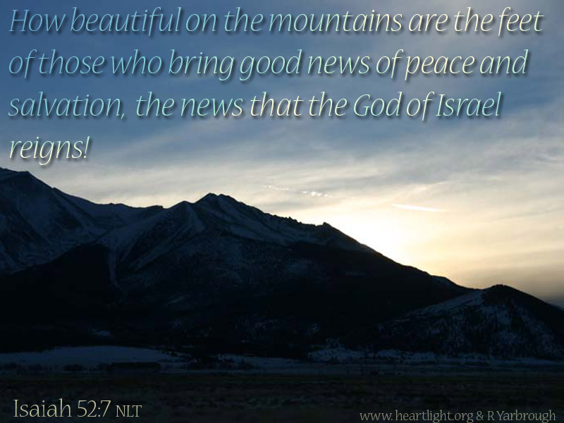 PowerPoint Background using Isaiah 52:7 Text