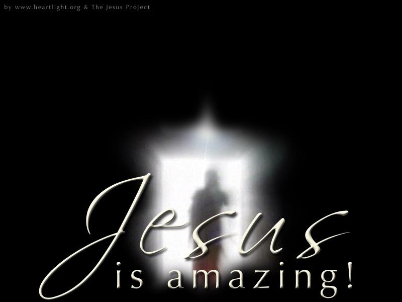 PowerPoint Background using Jesus is Amazing - Resurrection