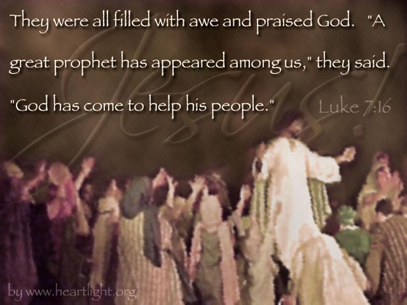 PowerPoint Background using Luke 7:16