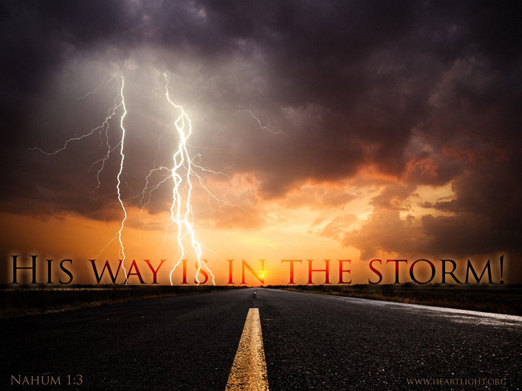 quothis way is in the stormquot � powerpoint background of nahum