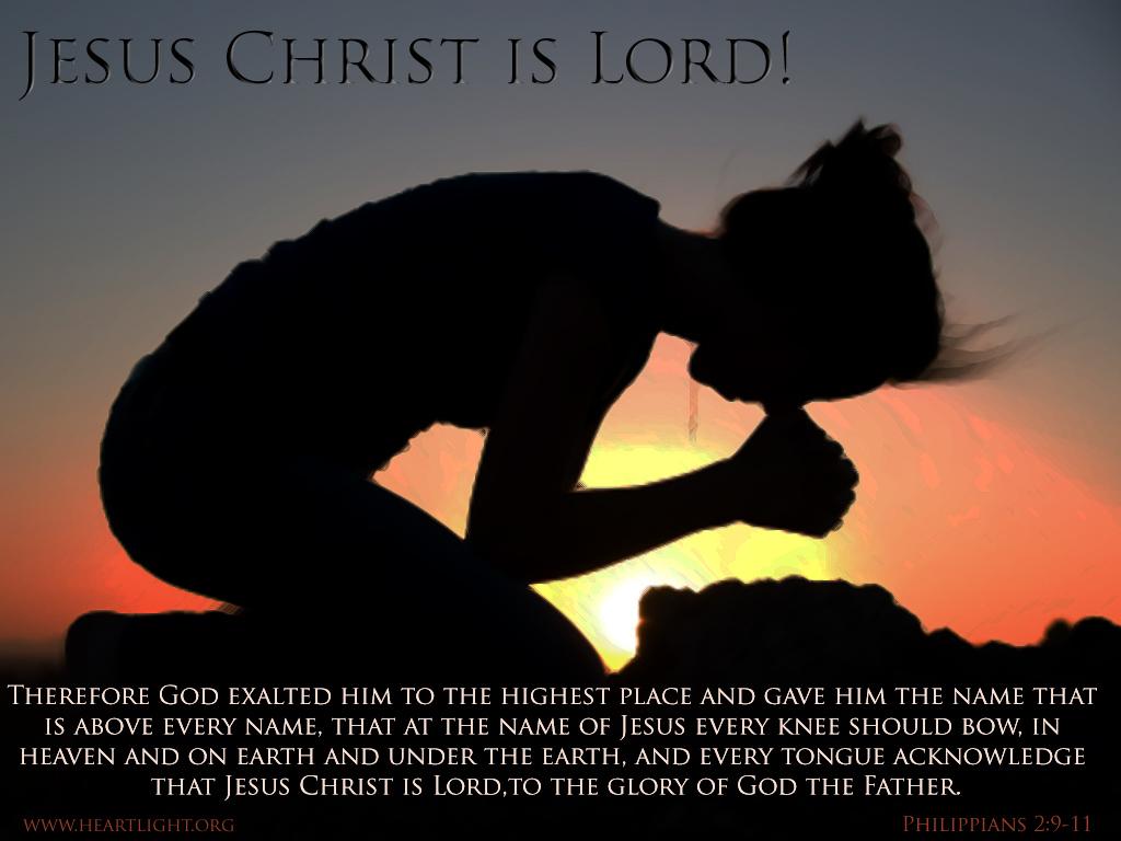 PowerPoint Background using Philippians 2:9-11