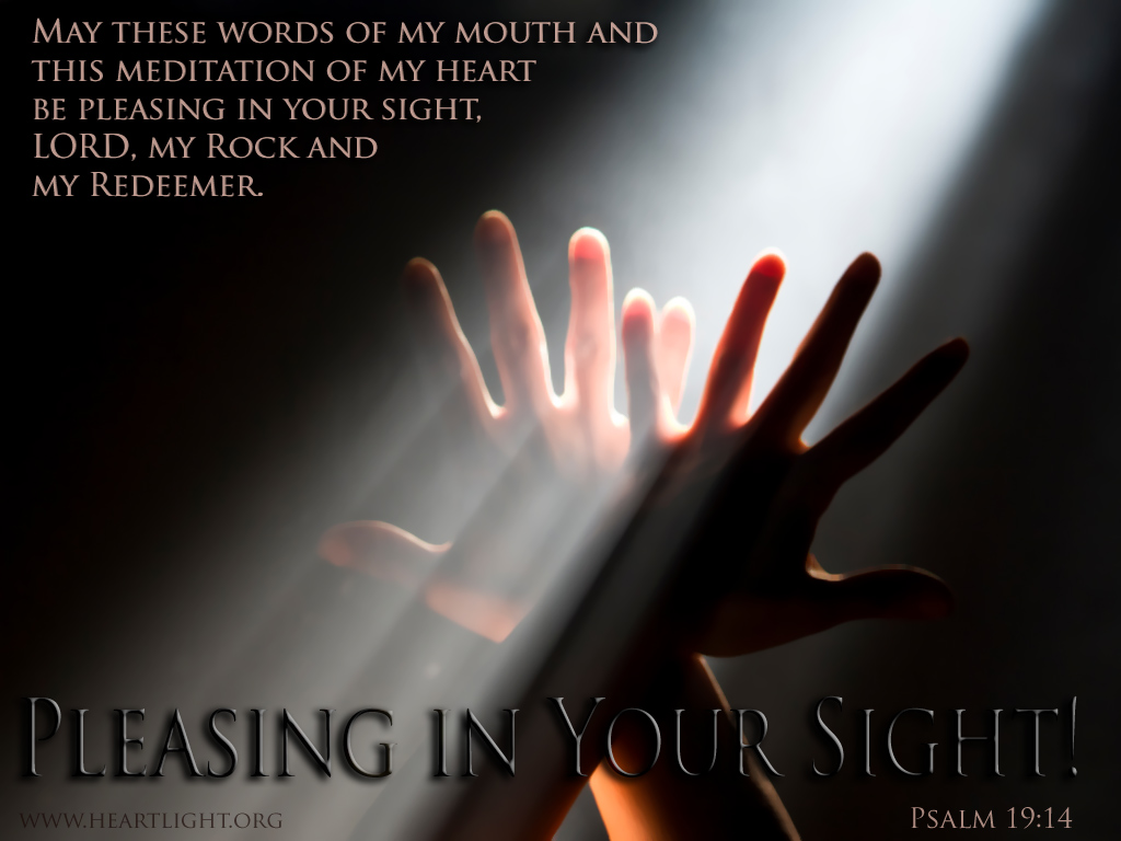 PowerPoint Background using Psalm 19:14