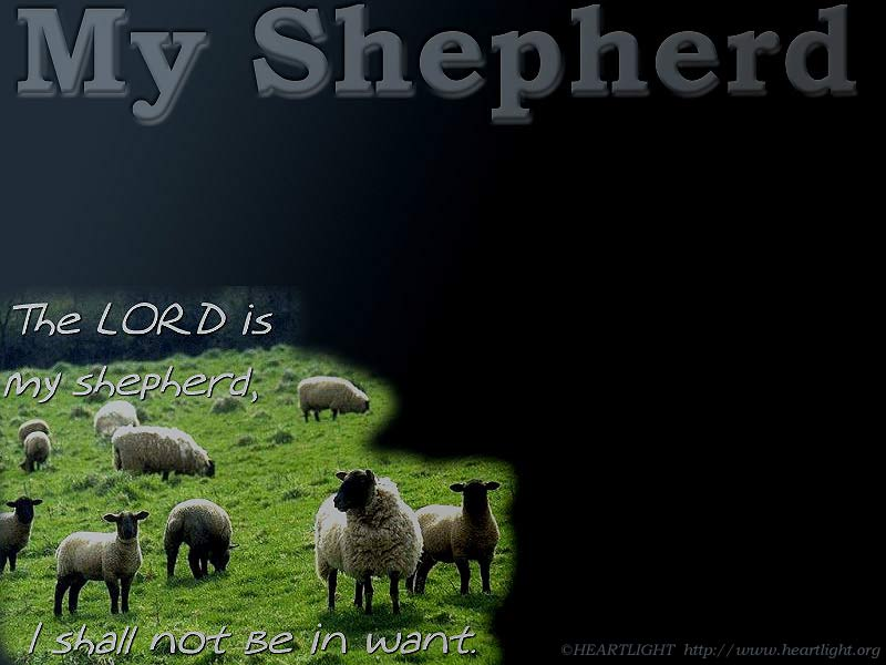 PowerPoint Background using Psalm 23:1
