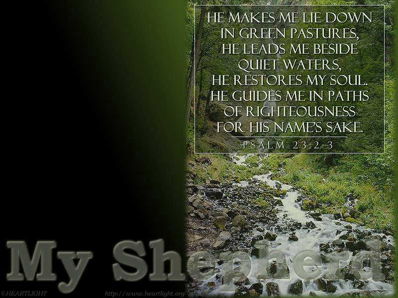 PowerPoint Background using Psalm 23:2-3