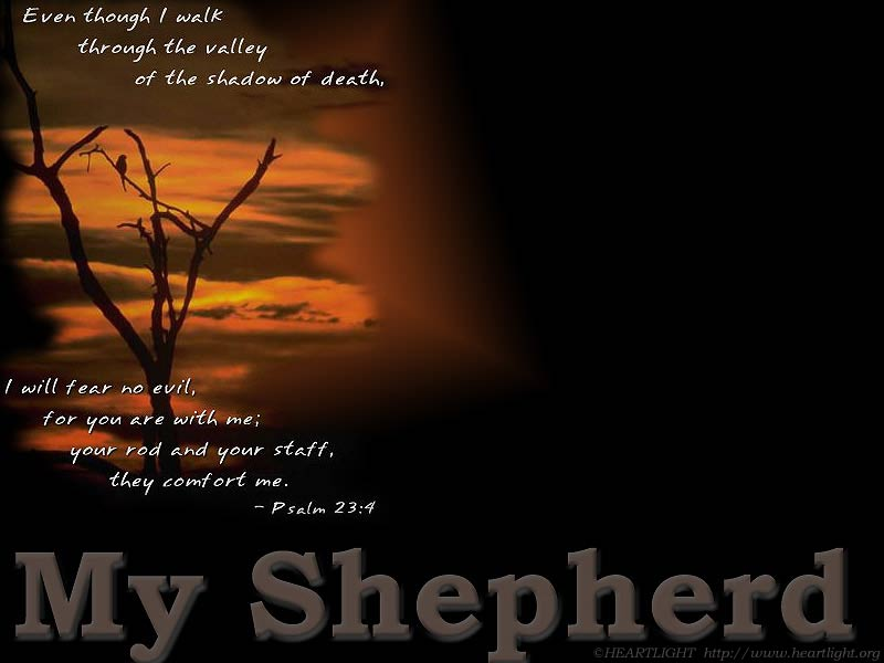 PowerPoint Background using Psalm 23:4