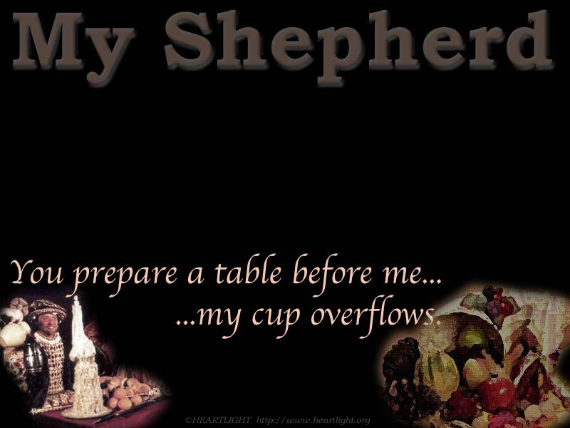PowerPoint Background using Psalm 23:5