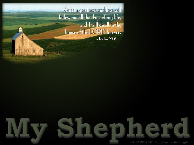PowerPoint Background using Psalm 23:6