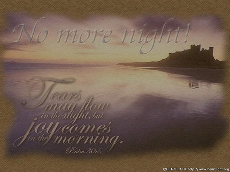 PowerPoint Background using Psalm 30:5