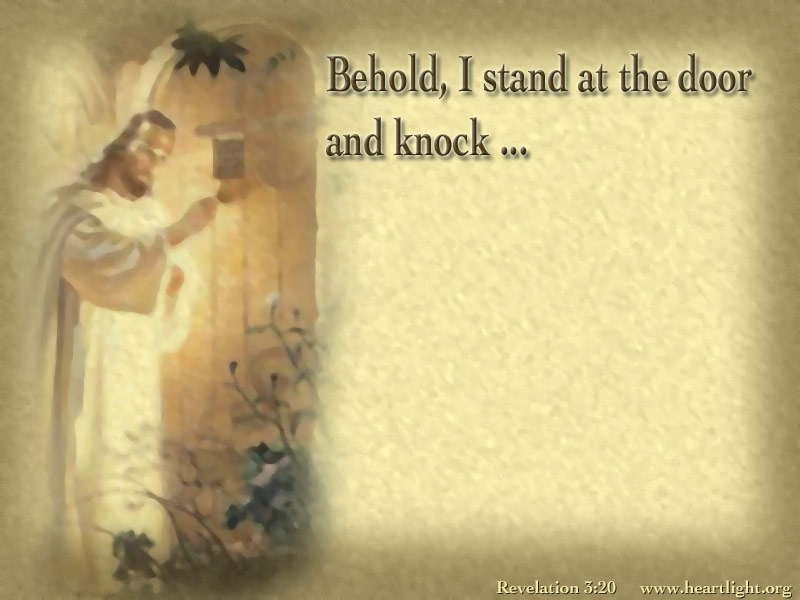 Quot At The Door Quot Powerpoint Background Of Revelation 3 20
