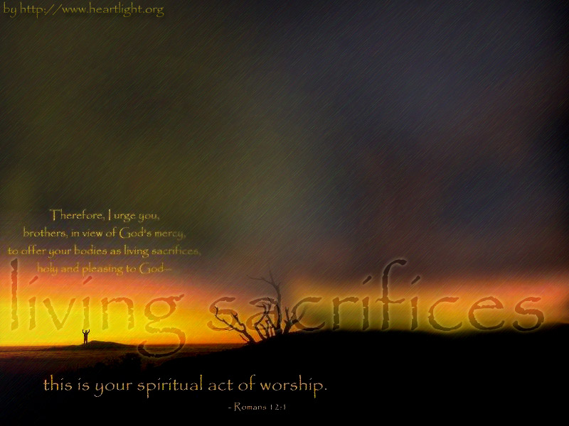 PowerPoint Background using Romans 12:1