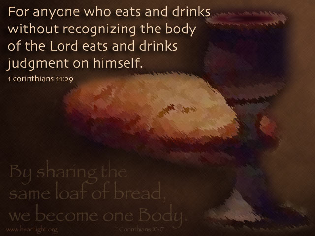 Illustration of 1 Corinthians 11:29 on Body Of Christ
