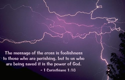 Illustration of 1 Corinthians 1:18 on Salvation