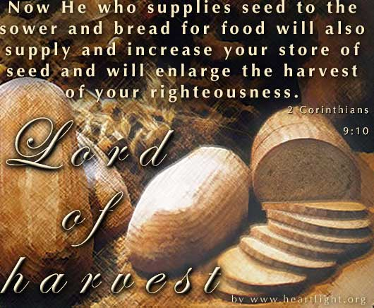 Illustration of 2 Corinthians 9:10 on Food