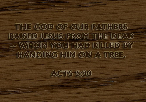 Illustration of Acts 5:30 on Jesus