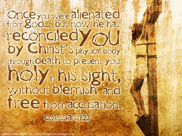 Illustration of Colossians 1:22 on Jesus