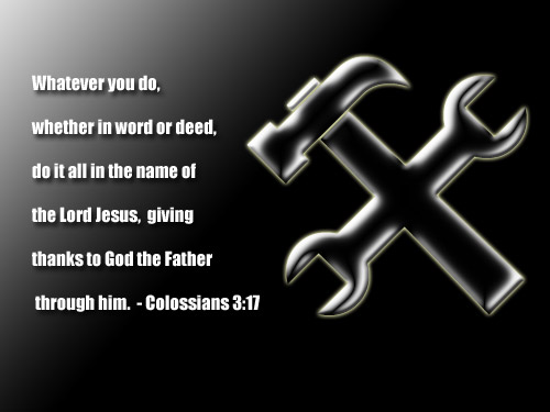 Illustration of Colossians 3:17 on Jesus