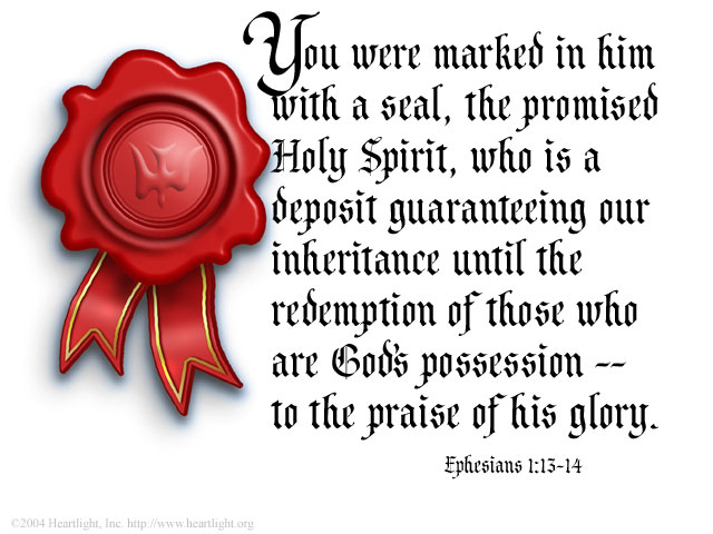 Illustration of Ephesians 1:14 on Inheritance