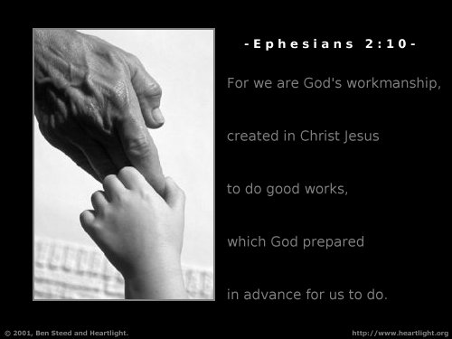 Illustration of Ephesians 2:10 on Guidance