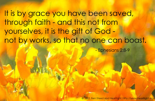 Illustration of Ephesians 2:8-9 on Salvation