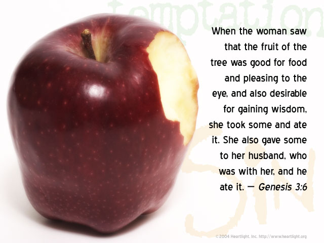 Illustration of Genesis 3:6 on Food