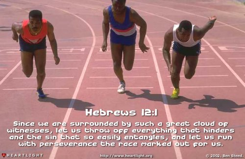Illustration of Hebrews 12:1 on Perseverance