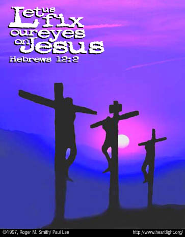 Illustration of Hebrews 12:2 on Jesus